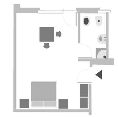 camera per 2 o 3 persone